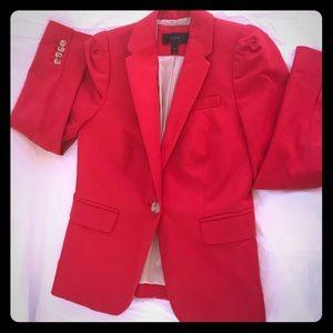 J.Crew Women's Blazer | Bright Red | Sz 00